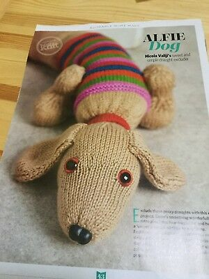 Knitting Pattern Dachshund Sausage Dog Door Draught Excluder 295
