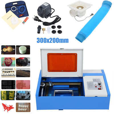 CO2 laser graviermaschine 40W cutting tool w/ USB port engraver Cutter 300x200mm