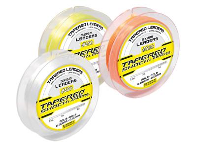 Asso Tapered Shockleaders Clear (5 x 15m) Sea Fishing Line