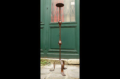 Grand pic cierge/porte bougie/Chandelier/Candelabre /Bougeoir ancien XIX e/120cm