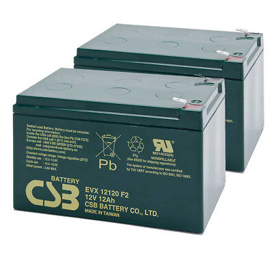 CSB 12V 12AH Pair Mobility Scooter Sealed Lead Acid Batteries EVX12120 Battery