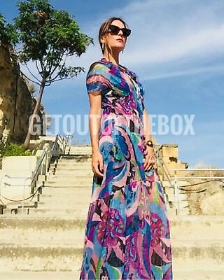 Zara long pleated printed dress Size S BNWT Bloggers favorite Sold Out