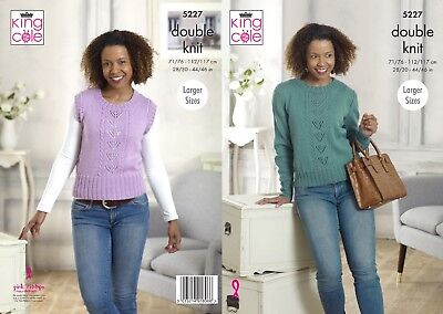 KINGCOLE 5227 DK KNITTING PATTERN 28-46 INCH -not the finished garments