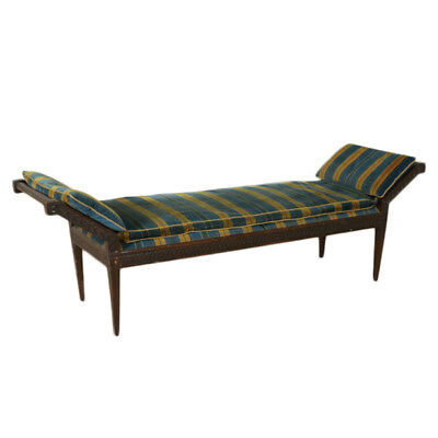 Walnut Sofa-Bench Manufactured in Italy 18th Century