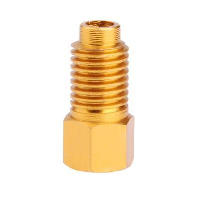 R12 to R134a Adapter 1/4 Female Flare with O-Ring X 1/2 Acme Male Golden