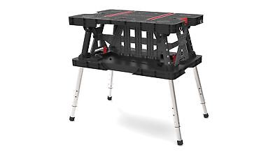 Compact Portable Folding Garage Table Keter, Height Adjustable Plastic  Workbench