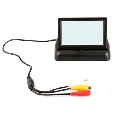 Foldable 4.3Inch Color LCD TFT Reverse Rear view Monitor for Car Back Up Ca X4P4