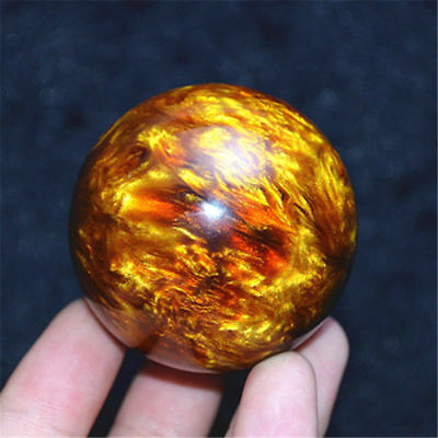Genuine Golden Black Coral Sea Willow cure the handball Ball 50MM