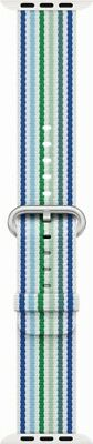 Genuine Apple Woven Nylon Band for Apple Watch 42mm (Blue Stripe) - VG - In Box