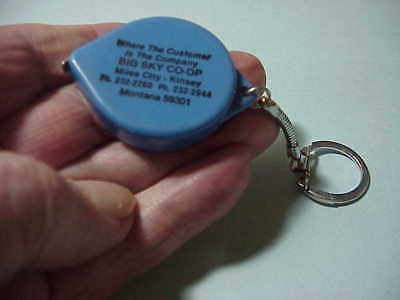 Miles City And Kinsey Montana Advertising Key Chain Co Op Tape