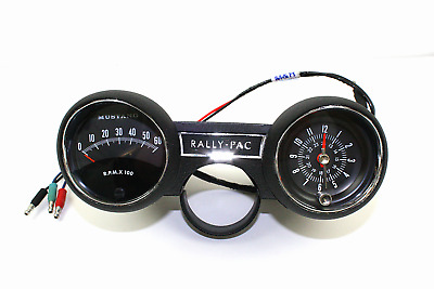 1966 ford mustang rally pac kit v8 w 8000 rpm ford tachometer rh picclick com 1999 Ford Mustang Wiring Diagram 1965 Mustang Wiring Diagram