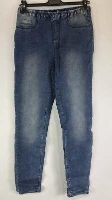 New Ex Evans Plus Size Light Denim Trousers Jeggings Size 14 To 28