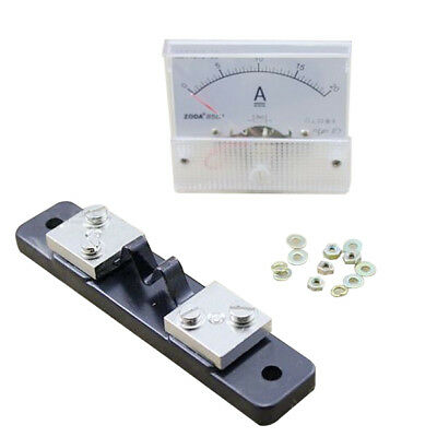 DC 0-20A Analog Amp Meter Ammeter Current Panel + 20A 75mV Shunt Resistor Z9X4