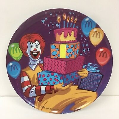 2004 Ronald McDonalds Plate plastic Happy Meal Sun Coast Collector Birthday Part