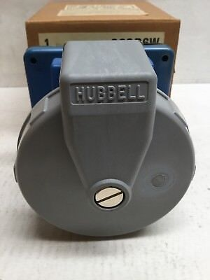 Hubbell 363R6W Pin & Sleeve Watertight Receptacle 63 Amp 2 Pole 3 Wire Grounding