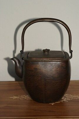 Antique Japanese Bronze Hammered Teapot