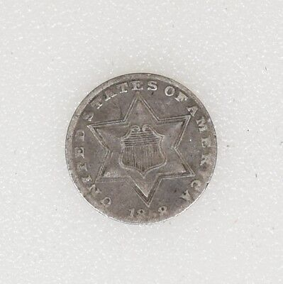 1858 T-2 VG/FINE Condition Three 3 Cent Silver Trime Nice Color & Strike-I-14137