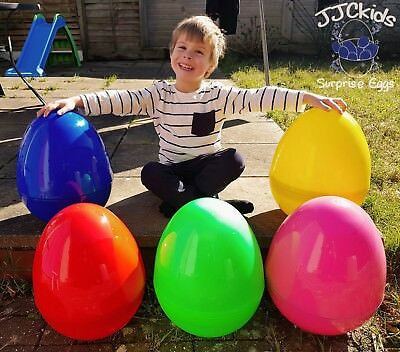 GIANT PLASTIC HOLLOW EASTER//PARTY//GIFT SURPRISE EGG *LIME SPARKLE* NEW  COLOUR