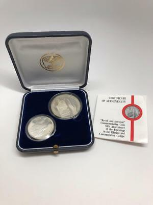 1993 Israel Silver Proof Coin Set of 1,2 Sheqel - In Case - Revolt and Heroism