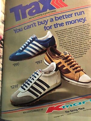 Vintage 1979 TRAX Sneakers KMart Advertisement Ad