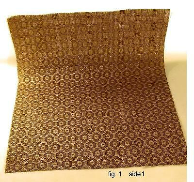 "VINTAGE NOS GRILLE CLOTH, GOLD, 16"" x 19"" FOR CLASSIC RADIO / AMP RESTORATION"