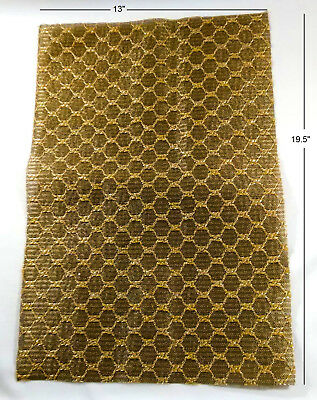 "Vintage Nos Grille Cloth, Gold, 13"" X 19.5"" For Classic Radio / Amp Restoration"