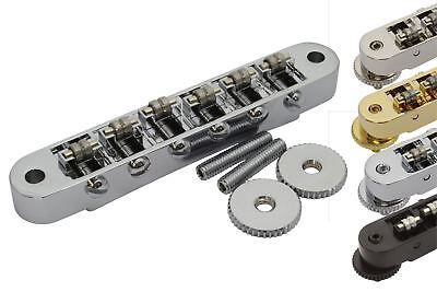 Roller Bridge Tune-o-Matic with m4 threaded posts Gibson Les Paul