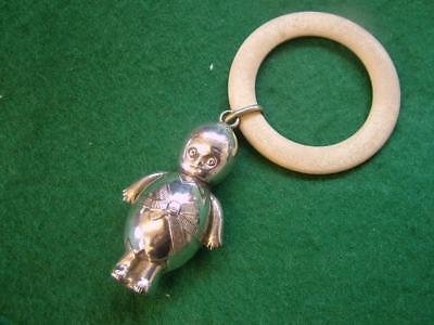 Early 20th Century Silver Plated (EPNS) Baby's Teething Ring / Rattle