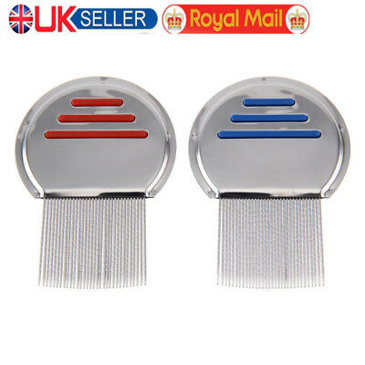 UK Lice Nit Comb Get Down To Nitty Gritty Stainless Steel Metal Head And Teeth