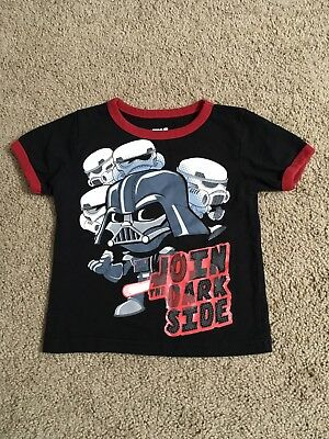 Star Wars Darth Vader Join The Dark Side Toddler Boy L/s T Shirt Top 2T