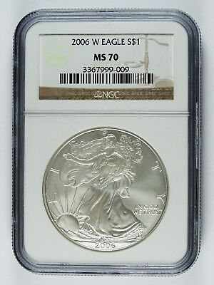 Auc0311 - 2006 W Silver Eagle S$1 - Ngc Ms 70