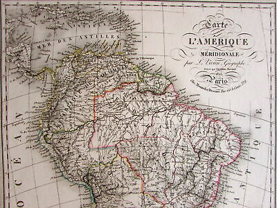 SOUTH AMERICA 1825 Vivien old map Graldon-Bovinet - $60.00 ...