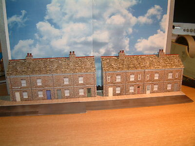 Low Relief Victorian Cottages/ Shops 2 of 4 Terraced,  Self Assembly Card Kit .