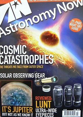 Astronomy now magazine - cosmic catastrophes and Jupiter - July 2017
