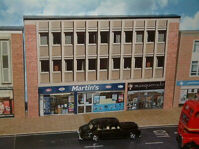 Low Relief Row of Shops, Martins and Masquerade  Self Assembly Card Kit .