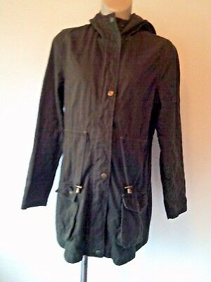 New Look Maternity Brown Cotton Parka Coat Jacket Size 12