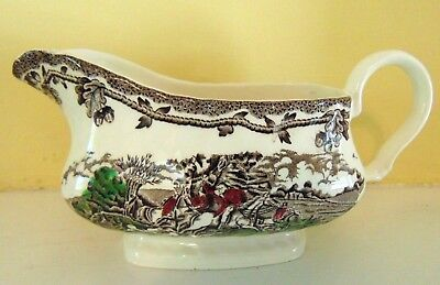 Myott's Country Life Gravy Boat Fox Hunt Hunting Staffordshire England