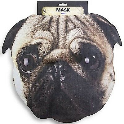 halloween big head foam mask funny pug dog