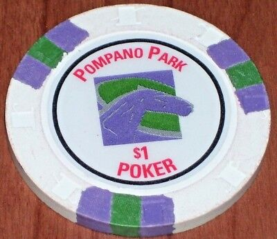 $1 Gaming Chip From The Pompano Park Rasino Pompano Beach, Fl