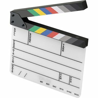 Elvid 9-Section Acrylic Dry Erase Production Slate [Clapboard] with Color Sticks