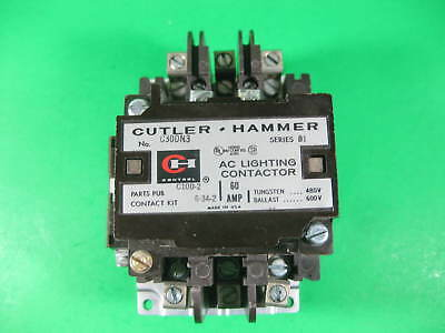 Cutler-Hammer AC Lighting Contactor C30DN3 Used