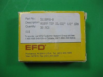 """EFD 18 AWG ½"""" Flex Tip 5118 PPS-B (Lot of 50) New"""