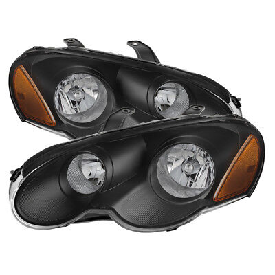 Chrysler 03-05 Sebring 2Dr Coupe Black Housing Replacement Headlights Left+Right