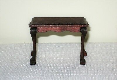 *** Dollhouse Miniature Mahogany Side Table Signed R Tompkins ***