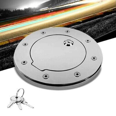Chrome Bolt-On Gas Fuel Tank Door Cover Cap+Lock+Key For Hummer 03-09 H2 GMT913