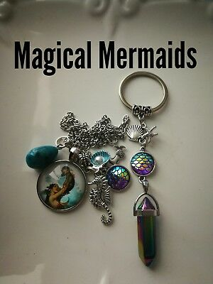 Code 380 Magical Mermaid jasper Infused n charged Necklace keyring Myth treasure