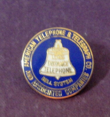 Vintage 1900 Bell System Telephone Commemorative Enamel Collectors Pin