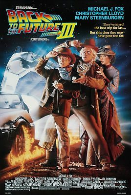 Back To The Future 3 Iii D/s Original Rolled Mint Movie Poster 1990 Double Sided