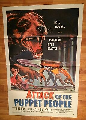 1958 - ATTACK OF THE PUPPET PEOPLE - ORIGINAL POSTER 27x41 1 Sheet