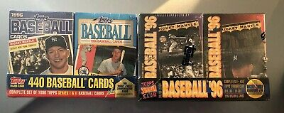 Lot of 2 1996 Factory SEALED Sets Topps & Stadium Club Mantle Rate